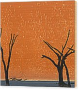 Dead Trees By Red Sand Dunes, Dead Wood Print
