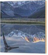 Deadwood At Beauty Creek Sunrise Wood Print