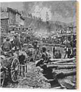 Deadwood South Dakota C. 1876 Wood Print