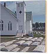 Deal Island Church Wood Print