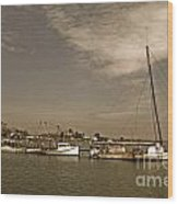 Deal Island Fishing Boats Wood Print
