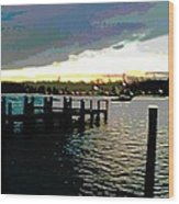 Deale Maryland Harbour Seascape Wood Print