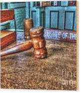 Dealing Justice Wood Print