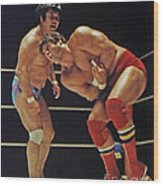 Dean Ho Vs Don Muraco In Old School Wrestling From The Cow Palace Wood Print