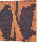 Death At Dusk Wood Print