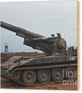 Death Dealer II  8 Inch Howitzer  At Lz Oasis Vietnam 1968 Wood Print