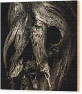 Death Mask Wood Print