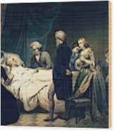 Death Of George Washington Wood Print