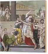 Death Of Virginia, Illustration Wood Print