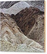 Death Valley Desert Rocks Wood Print
