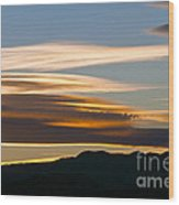 Death Valley Evening Sky Wood Print