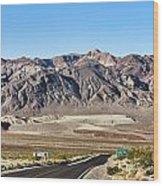 Death Valley Highway Wood Print