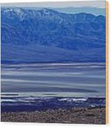 Death Valley National Park Overview Of Badwater Basin Wood Print