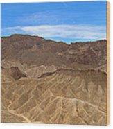 Death Valley Np Zabransky Point Ca 2 Wood Print
