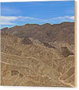 Death Valley Np Zabransky Point  Wood Print