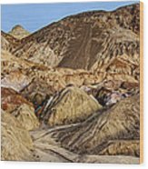 Death Valley Painted Mountains Wood Print