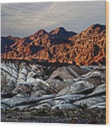 Death Valley Painted Rock Wood Print