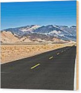 Death Valley Rd Wood Print