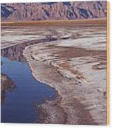 Death Valley Salt Stream 1-h Wood Print