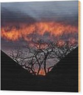 Death Valley Sunset Wood Print