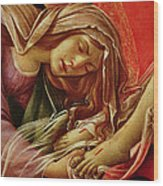 Deatil From The Lamentation Of Christ Wood Print