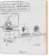 Debate Between Mike Pence And Tim Kaine Wood Print