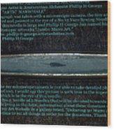 Debuting Arctic Polar Bear Sewing Needle No.2  Wood Print by Phillip H George