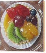 Decadent Fruit Tart Wood Print