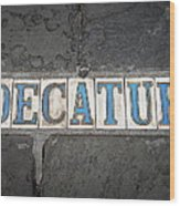 Decatur Wood Print
