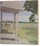 Decayed Farm House Wood Print
