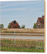 Decaying Farm Central Il Wood Print