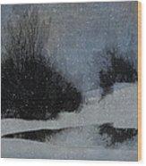 December Dusk Wood Print