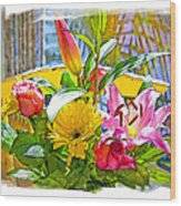 December Flowers Wood Print by Chuck Staley