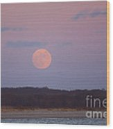 December Moon Wood Print