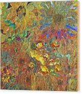 December Remembering Summer Flowers Wood Print