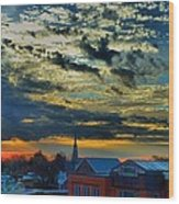 December Sunrise In Annapolis Wood Print