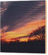 December Sunset Wood Print