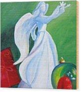 December's Angel Wood Print