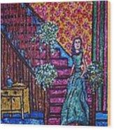 Decending Staircase Wood Print by Linda Vaughon