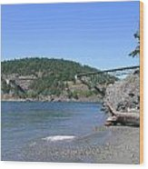 Deception Pass Bridge II Wood Print