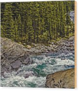 Dechutes River Rapids Bend Oregon Wood Print