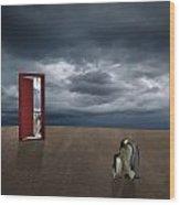 Decision Of Penguin Wood Print