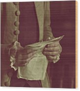 Declaration Wood Print