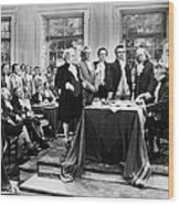 Declaration Of Independece Wood Print