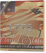 Declaration Of Independence  Wood Print by Beverly Guilliams
