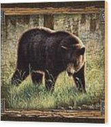 Deco Black Bear Wood Print