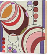 Deco Circles Wood Print