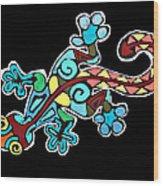 Deco Gecko Wood Print