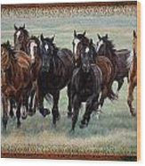 Deco Horses Wood Print by JQ Licensing