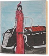 Deco Mama W/convertible Wood Print by Mary Kay De Jesus